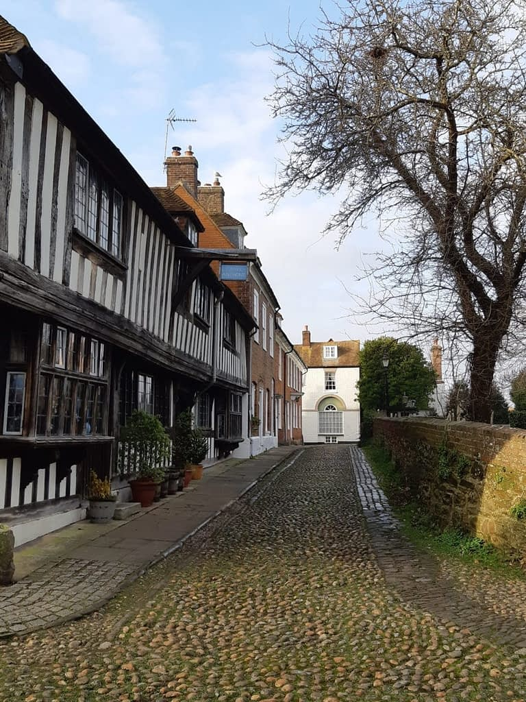 Cobbled streets in Rye.