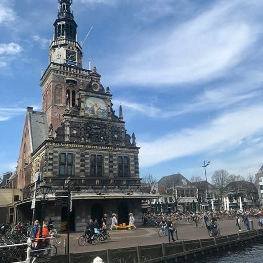 The town square in Alkmaar, Holland, Telescope Style blog.