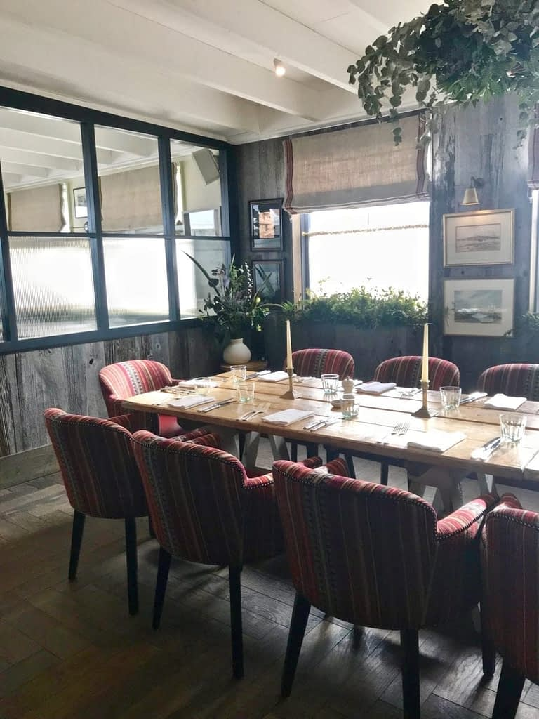 The Gallivant dining room at Camber Sands beach.