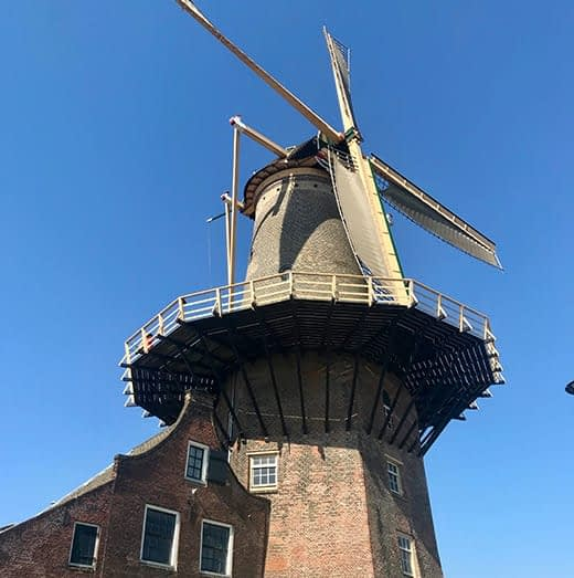 A windmill in the town of Delft, Telescope Style Holland in Springtime blog.