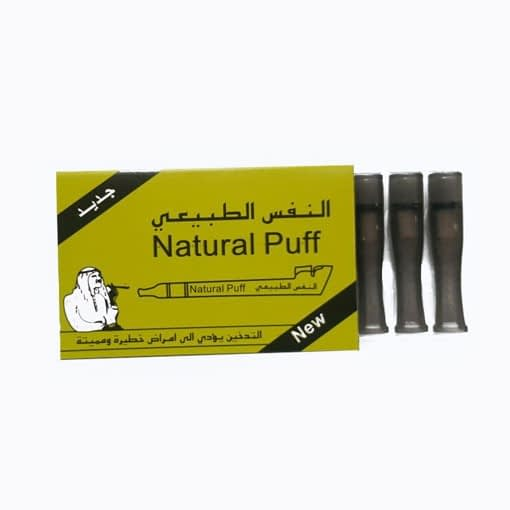 Clear Black Natural Puff Filters ( Cotton + Silicon ) in America – Enjoy Dokha USA