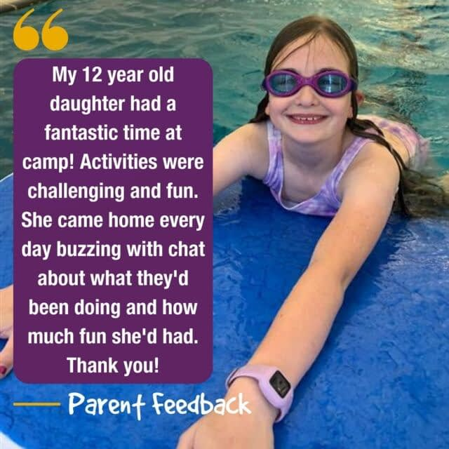 Feedback Friday 📣  We love receiving feedback from our parents! And each Friday from now on will be a feedback Friday, where we get to share what parents and families say about us, with you!😆  #feedbackfriday #holidaycamp #testimonial #happyparents