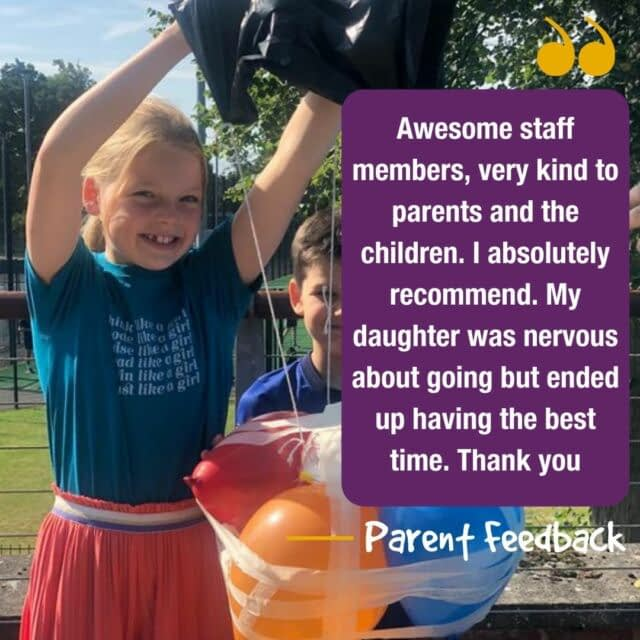 Feedback Friday 📣  We love receiving feedback from our parents! And each Friday will be sharing what parents say about us, with you!😆  #feedbackfriday #holidaycamp #testimonial #happyparents