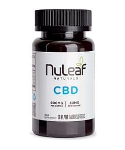 NuLeaf Naturals CBD Oil - 900mg Full Spectrum Capsules (15mg/softgel)