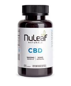 Nuleaf Naturals CBD Oil - 900mg Full Spectrum Hemp CBD Capsules 30mg softgel Enjoy CBD