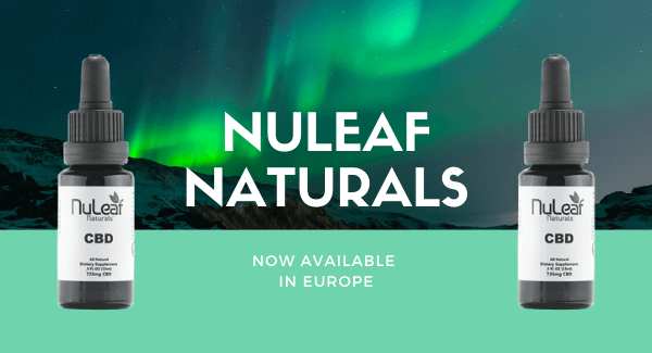 Nuleaf Naturals CBD oil now available in Europe - Enjoy CBD