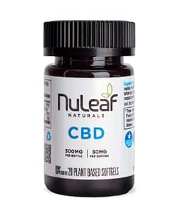 Nuleaf Naturals CBD Oil - 300mg Full Spectrum Capsules (15mg/softgel)
